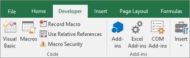 Microsoft Excel Developer Checkbox