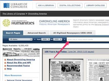 Chronicling America Newspaper Search