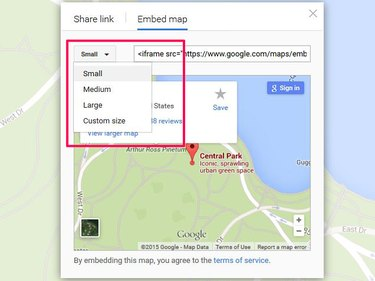 Embed a Google map in your website.