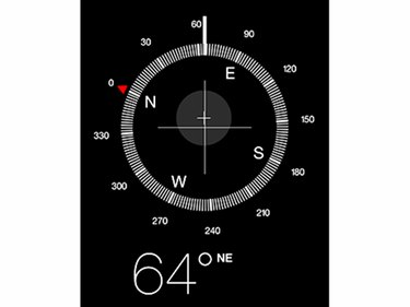 The digital compass resembles a magnetic-needle compass.