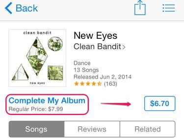 Complete my album pricing