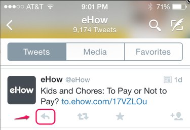 The Retweet button is also present in the app.