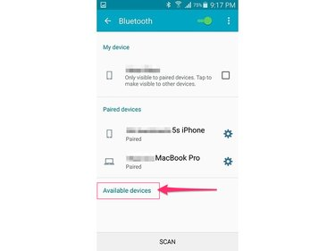 Wait for the device to appear on the list of available devices (Android 5.0)
