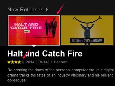 Netflix on computer.