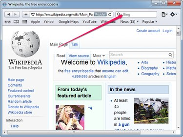 The search box in Safari for Windows.