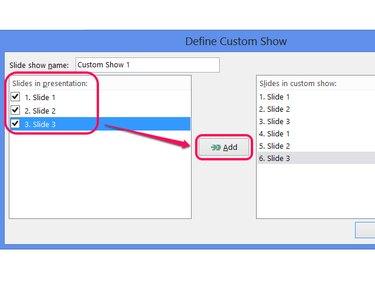 Optionally, name the custom show.