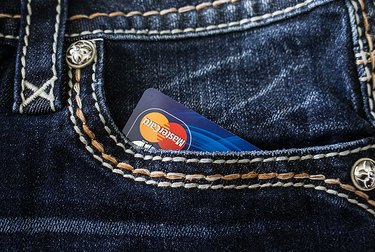 Credit card in a pocket