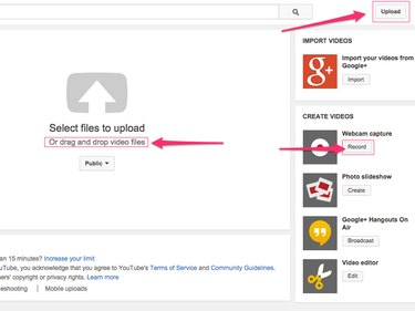 You can also upload videos directly to YouTube from third-party applications such as iMovie.