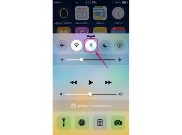 Manage the Bluetooth feature from the Control Center.