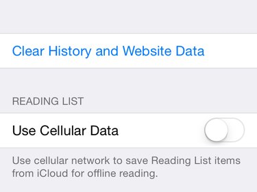 Clear History and reading list options