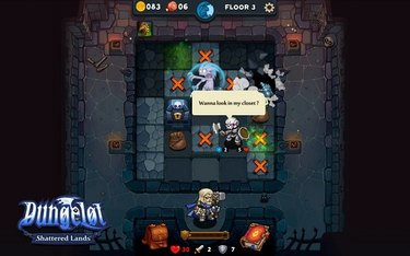 A Dungelot: Shattered Lands screenshot with Paladin as the player.
