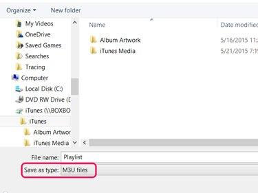Saving an M3U file