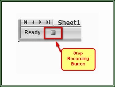 The Stop Button is displayed while a Record Macro function is active.