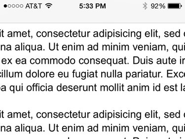 A PDF file shown exceeding the dimensions of an iPhone's screen.