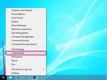 Power User menu in Windows 8.1.