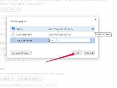 Enter Yahoo.com and Click OK