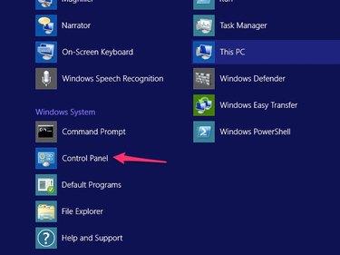 Click Control Panel.