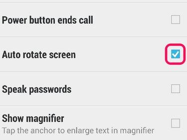 Auto rotate screen option