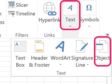 Word's Insert Text options