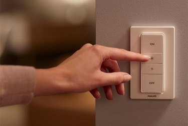 A Philips Hue dimmer switch
