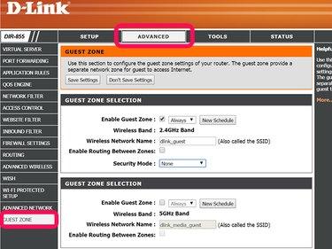 D-Link admin panel