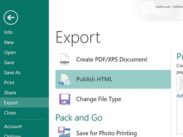 Publish the document as HTML file.
