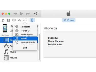 New ringtones must be synced in iTunes.