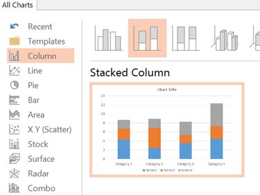 Create a Stacked Column chart.
