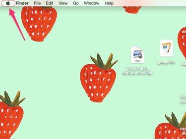 click Apple icon