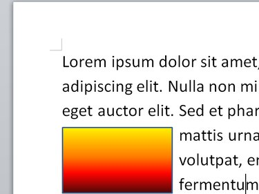Text flowing around an image in Word.