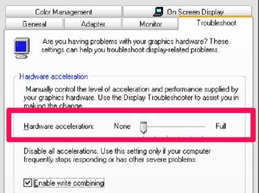 Change the Hardware acceleration.