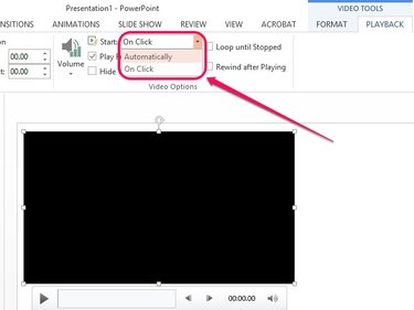 Set the video to play automatically as soon as the slide starts.