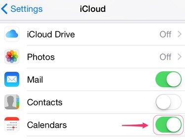 Turn on Calendars in iCloud.