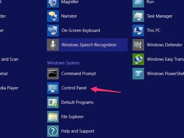 Click the Control Panel