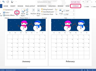 Copy and paste the calendar to begin a second page.