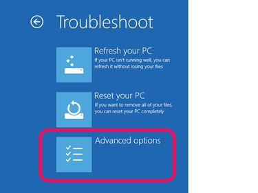 Troubleshoot Options