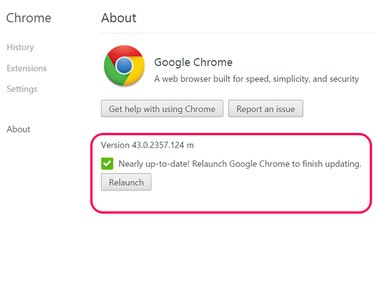 Chrome will be up-to-date after it's relaunched.