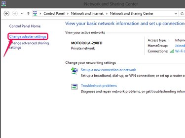 Click Change Adapter Settings from the sidebar.