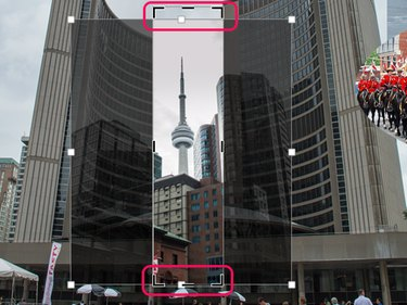 Cropping a narrow image makes it easy to fit in the collage.
