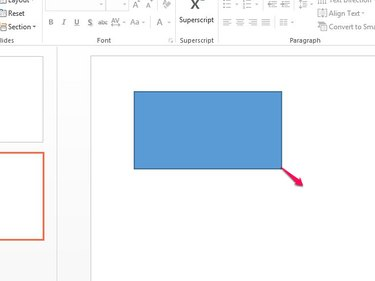 Drag to add the shape to the slide.