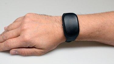 The Healbe GoBe 2 on the author's arm