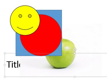 A PowerPoint slide with shapes and a photo.