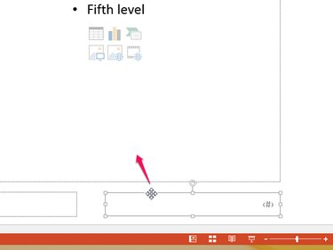 Drag the cross cursor to move the number box.