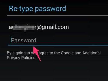 Enter password and tap Sign In.