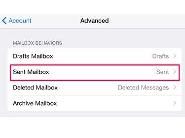 Change email folder settings on an iPad