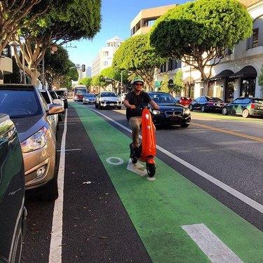 Ojo in bike lane