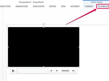 Select the video, and then open the Playback tab.