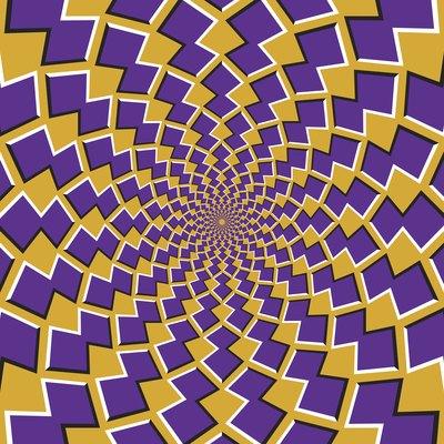 Optical motion illusion background