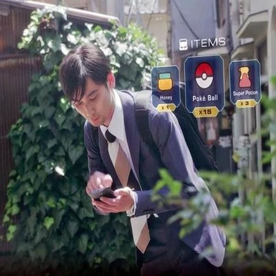 Person playing Pokemon Go