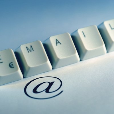 Computer keyboard keys spelling the word email